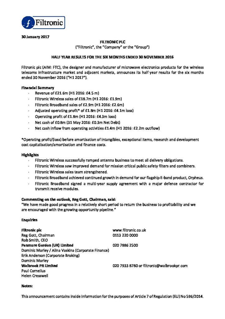 Filtronic-plc_Half-Year-Results-Nov2016