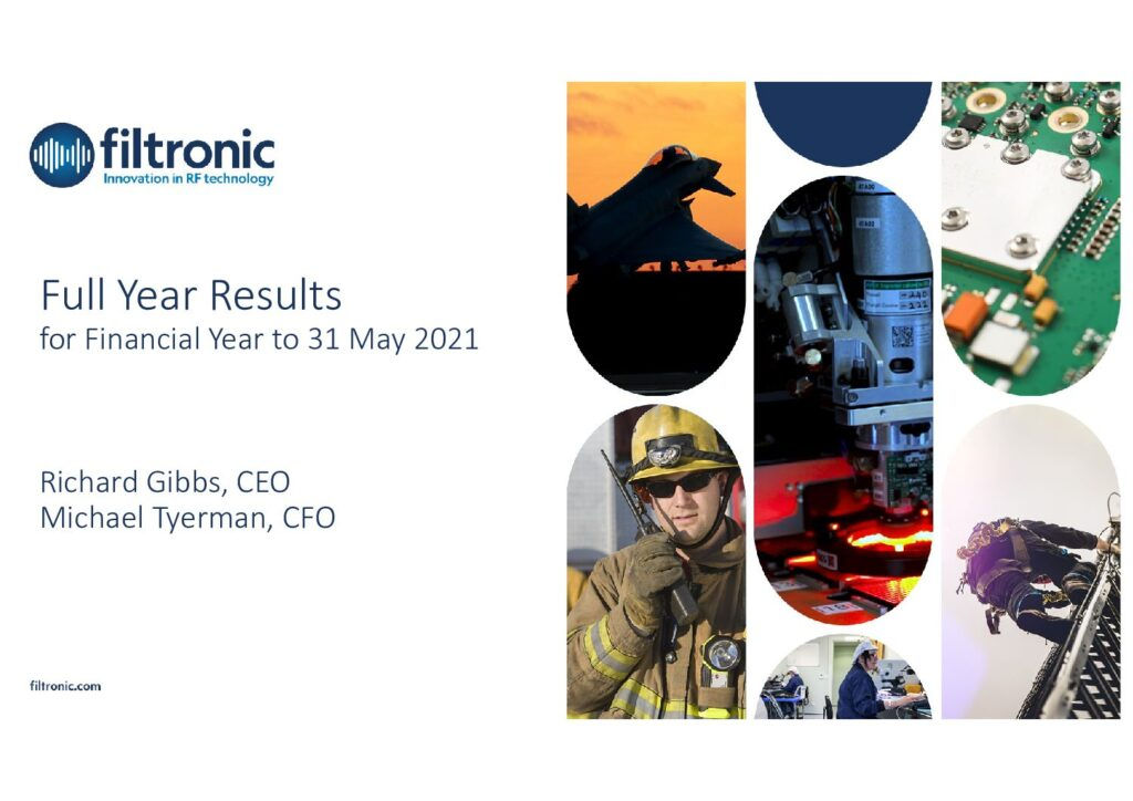 Filtronic Results Presentation - August 2021 - Final